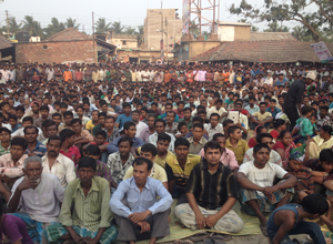 Bhangar meeting, 8 April.