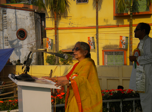 Krishna Bose addresses Sonarpur Rally 26 Apr 2014.