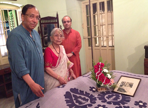 Sugata Krishna Sumantra at Netaji Bhawan 16 May 2014.